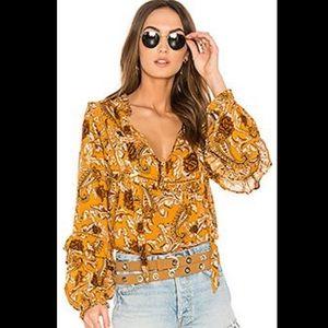 Spell Etienne blouse in mustard